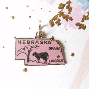 Nebraska Enameled Vintage State Travel Charm